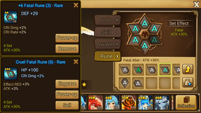 summoners war rune slots