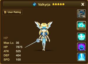 Valkyrja Water Stats
