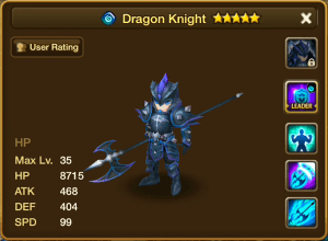 Water Dragon Knight Stats