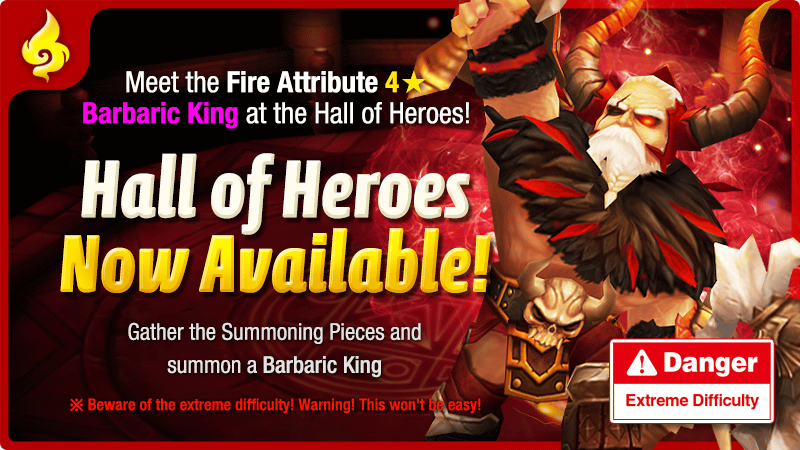 December Hall of Heroes – Fire Barbaric King