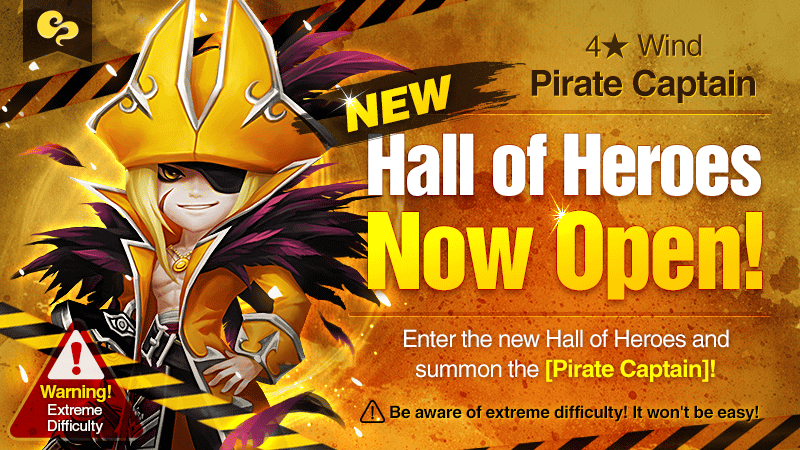 Hall of Heroes [Wind Pirate Captain: Barque] January 2017