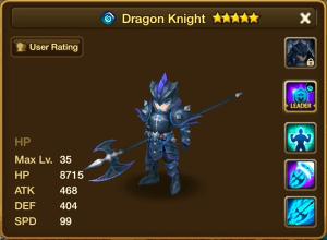 Water Dragon Knight Stats