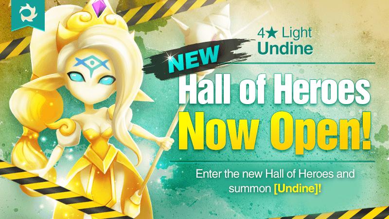 April Hall of Heroes – [4★ Undine (Light) – Icasha ] Event