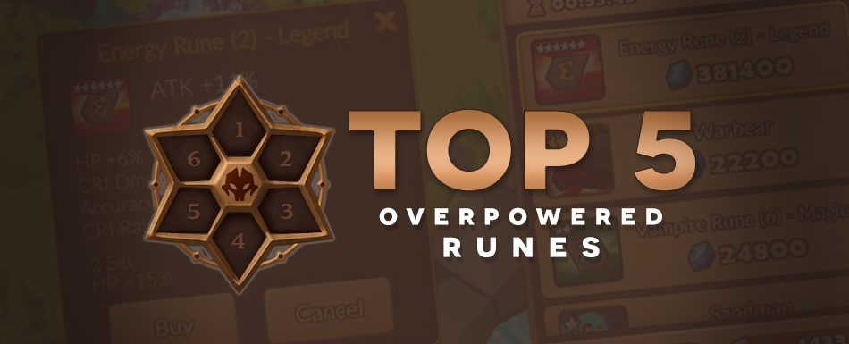 [Top 5] Overpowered Runes